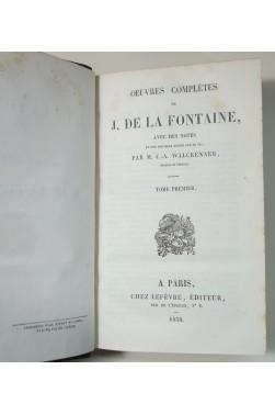 Oeuvres complètes de J. DE LA FONTAINE 2/2 - Notes de WALCKENAER - Lefèvre, 1838, RARE