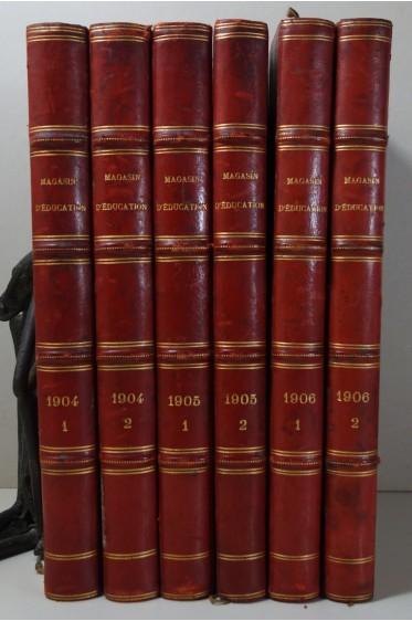 VERNE L'invasion de la Mer + Volcan d'Or + Drame en Livonie - Editions originales HETZEL Magasin d'Education 1904 à 1906