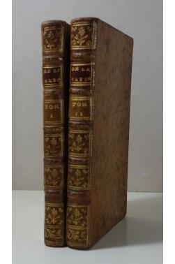 [ ROBINET ] De la Nature - complet en 4 parties - Harrevelt, 1762, Philosophie