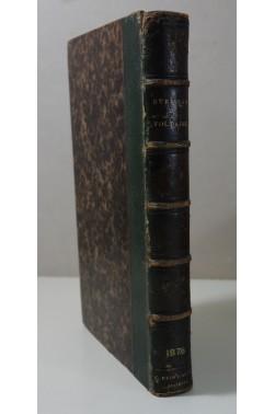 VOLTAIRE - Six conférences de DAVID-FREDERIC STRAUSS. Reinwald, 1876 - Reliure signée