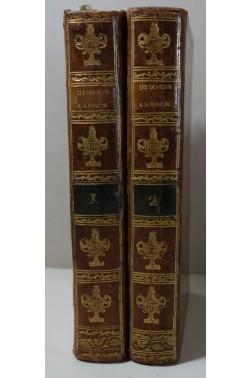 DIOGENE. Les vies des plus illustres philosophes de l'antiquité 2/2 - Chez Richard, 1796, RARE