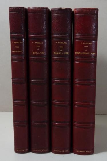 RABELAIS. Pantagruel + Le Tiers Livre + Le Quart Livre + Le Cinquiesme Livre 1929