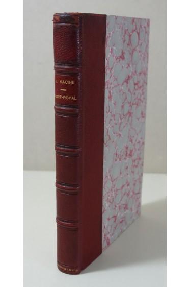 Jean RACINE. Port-Royal - Lettres. 1933, sur vélin, Les Belles Lettres, Reliure signée