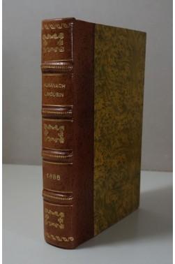 ALMANACH LIMOUSIN 1886 du ressort de la Cours d'Appel et du Diocèse de Limoges