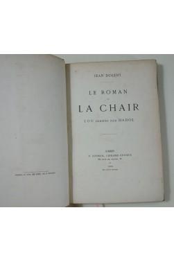Jean DOLENT. Le roman de la chair - 100 dessins par HADOL. Edition originale, 1866