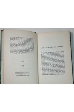 Jean GUEHENNO. Sur le chemin des hommes - numéroté sur Alfa, Cahiers verts Grasset, reliure 1959