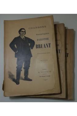 Chansons et monologues d'Aristide BRUANT - 150 livraisons en 3 tomes - Dessins des meilleurs artistes