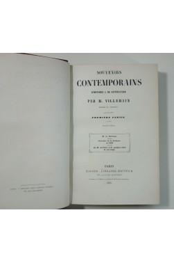 VILLEMAIN. Souvenirs contemporains d'histoire et de littérature 2/2 - Didier, 1855