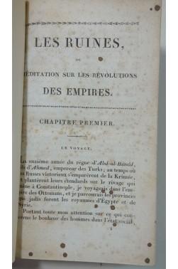VOLNEY. Les Ruines ou Méditation sur les Révolutions des Empires - RARE, CRAPELET, vergé