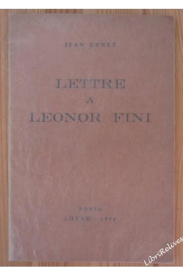 Lettre à Leonor Fini - avec 8 planches - numéroté