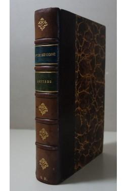 Lettres de Mme de SEVIGNE +notice sur sa vie et du traité . Firmin-Didot 1879