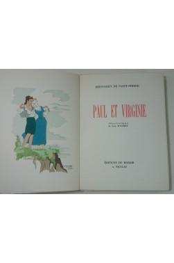 Paul et Virginie. Illustrations de Line Touchet + SUITE. Edition du Marais 1945