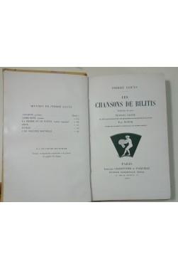 LOUYS. Chansons de Bilitis illustrées par NOTOR -1900 + Pausole, 1901 - reliures