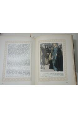 BEDIER. Tristan et Iseut - Illustrations en couleurs de ENGELS. 1922, PIAZZA, Reliure
