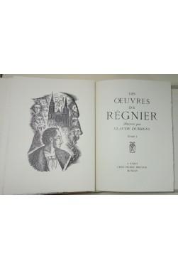 Les Oeuvres de REGNIER illustrées par Claude DURRENS 2/2 - vélin de Rives, BRICAGE, 1954