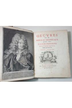 Oeuvres de BOILEAU DESPREAUX. 6 gravures CHEREAU + 2 portraits. 1716, in-4, Tome 1er