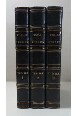 [ RELIURE signée SIMIER ] Œuvres complètes de PIGAULT-LEBRUN - Théâtre 1-3. Barba, 1822 -23