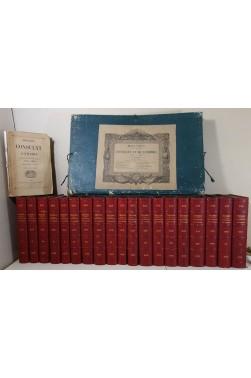 THIERS. Histoire du Consulat et de l'Empire, 19 tomes + ATLAS, 66 cartes + table