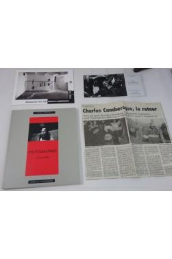 Charles CAMBEROQUE. Photographies 1975 - 1993. Dédicacé, Cahiers de la Photographie