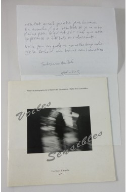 José-Luc MANZARES. Photographies - voiles sensibles. Dédicace + lettre, RARE 1995