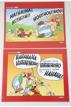 Les fous rires d'Astérix - Pochette 8 dessins - Ed. Albert René - 2010 - Comme neuf -
