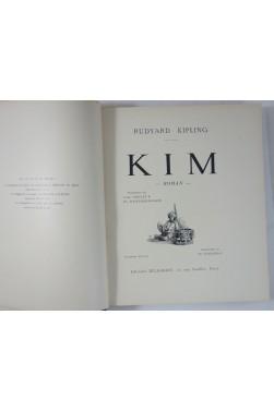 Rudyard KIPLING. KIM - illustré par Ch. FOUQUERAY. Reliure, Delagrave, 2è édition