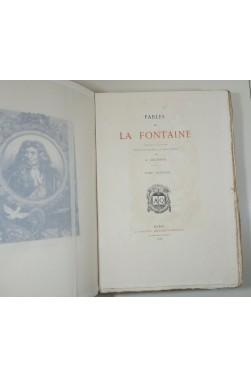 Fables de La Fontaine. Edition Illustrée de 75 Planches à l'Eau-Forte par A. Delierre. 2 tomes, Quantin - 1883
