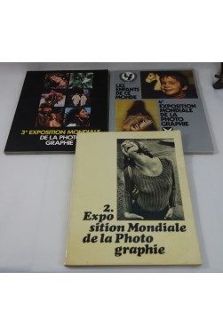 Exposition mondiale de la Photographie 2 + 3 + 4 - 1968, 1973, 1977 - 3 catalogues