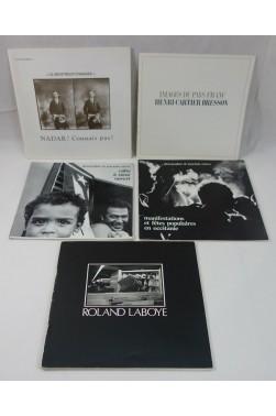 PHOTOGRAPHIE - 5 plaquettes : CARTIER BRESSON, Jean-Louis Estève, Roland LABOYE, Nadar. RARE