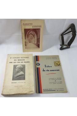 BEZIERS Congrès National des Médecins Amis des VINS 1934 + 2 plaquettes