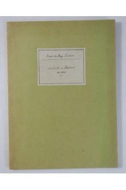 [ RARE copie MANUSCRITE 1943] REY-PAILHADE. - Méditations philosophiques d'un octogénaire - Une visite à Béziers en 1838