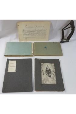 5 MANUSCRITS de la famille CHAIX, imprimeurs : Comédies, relation de Voyage, Photos.