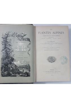 VERLOT. Les PLANTES ALPINES - 50 PLANCHES, chromolithographies. Rothschild, 1873, RARE