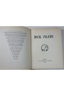 Paul VALERY - Revue le Capitole. Portrait et bois de Szekely de Doba. Numéroté - 1926
