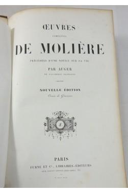 Oeuvres complètes de MOLIERE - 15 planches, gravures de VERNET, DESENNE. FURNE, 1844