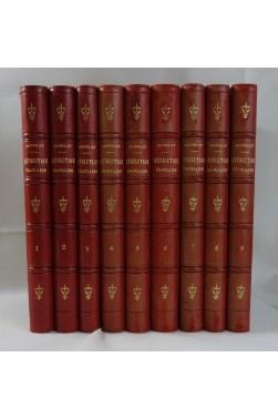 MICHELET. Histoire de la Révolution Française - complet en 9 volumes - Illustrations par VIERGE - RELIURES