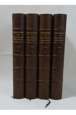 Les historiettes de TALLEMANT DES REAUX, tomes 2 à 5 - Belles reliures, Techener, 1862