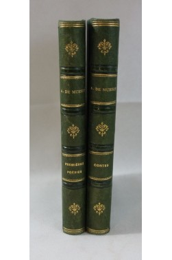 Alfred de MUSSET. Premières poésies, 1863 + Contes, 1867. RELIURES, Charpentier