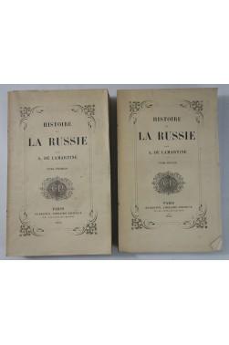 EO - A. de LAMARTINE. Histoire de la RUSSIE 2/2 - Perrotin, 1855, Edition originale