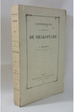 MEZIERES. Prédécesseurs et Contemporains de Shakspeare - SHAKESPEARE - 1864, Charpentier