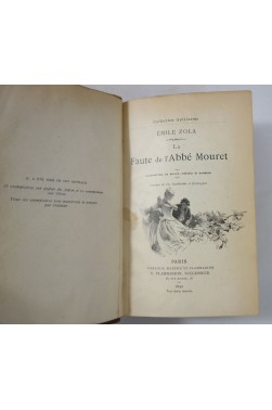 E. ZOLA. La Faute de l'Abbé Mouret - illustré, collection Guillaume - Flammarion 1890