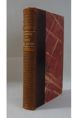 Jacqueline MARENIS. Finis les rêves ... Grasset, 2ème tirage sur vélin - 1941
