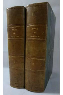 SOUBEIRAN. Traité de PHARMACIE - 2/2 - 1875 MASSON, figures, 8è édition refondue par J. Regnauld
