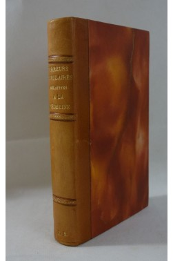 A. RICHERAND. Des ERREURS POPULAIRES relatives à la MEDECINE - 1812, Relié, sur vergé à la cuve