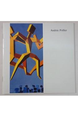 Andrée POLLIER. Exposition à Chambery, Musée Savoisien, 1991. RARE, plaquette