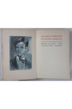 Œuvres complètes d'Arthur RIMBAUD - portrait de N. Altman. Numéroté, Editions de Cluny - 1932