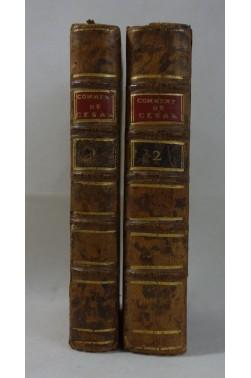 Les Commentaires de César - WAILLY. 2 tomes reliés - 4ème édition, BARBOU, 1803 - latin-français