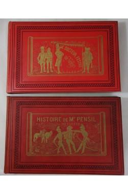 TOPFFER. 2 volumes illustrés, M. PENCIL - Docteur FESTUS - Cartonnages Garnier, RARE 1923