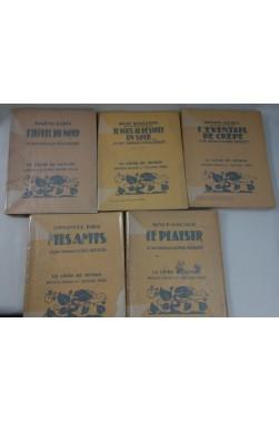 Lot de 5 livres illustrés par Paul BAUDIER de la collection Le Livre de Demain