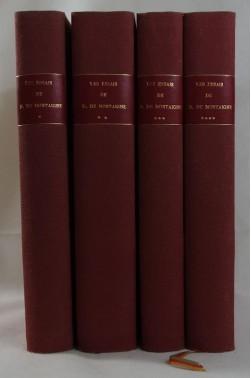 Les ESSAIS de Michel de MONTAIGNE, 4 tomes - Imprimerie PECH, 1906, RARE - sur vergé, tirage limité